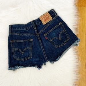 Levi's 501 Distressed Denim Cut Off Shorts